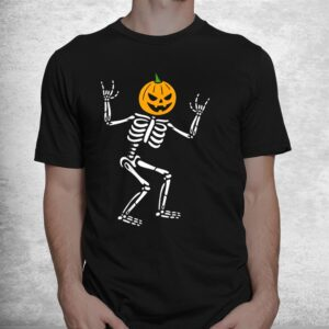 cool skeleton pumpkin head scary spooky new halloween shirt 1