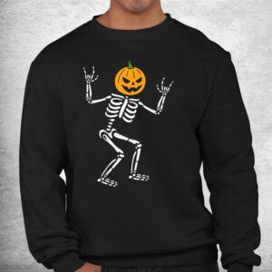 cool skeleton pumpkin head scary spooky new halloween shirt 2