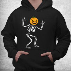 cool skeleton pumpkin head scary spooky new halloween shirt 3