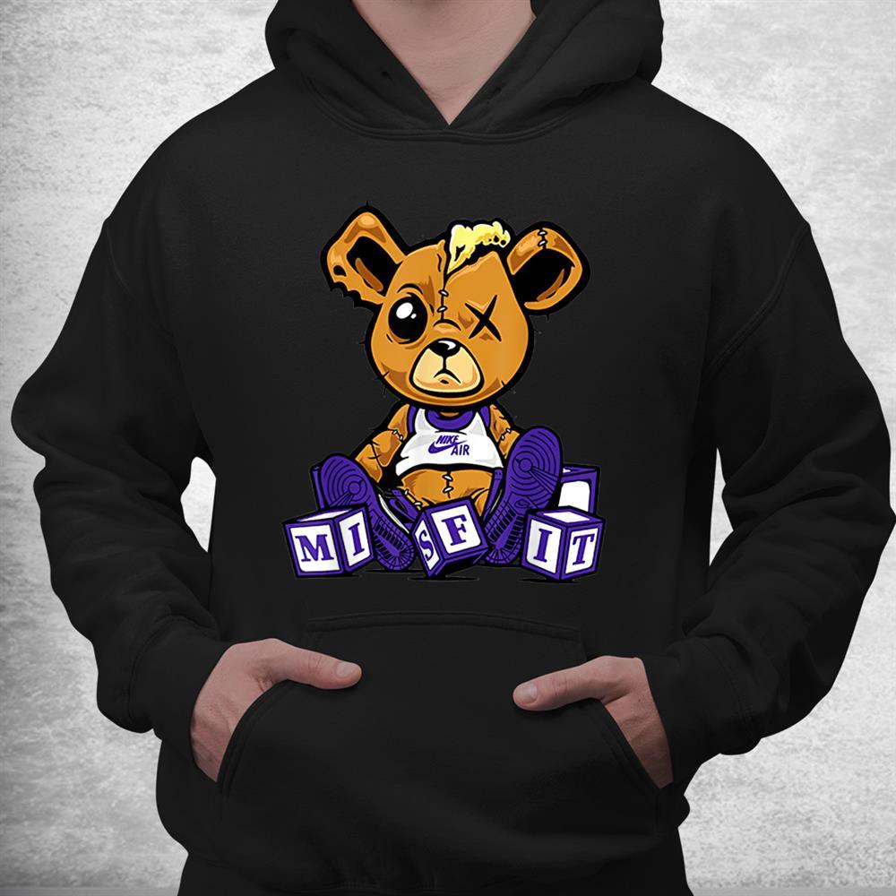 Court Purple 1s Misfit Teddy Tee Love Sneaker Jordan Shirt