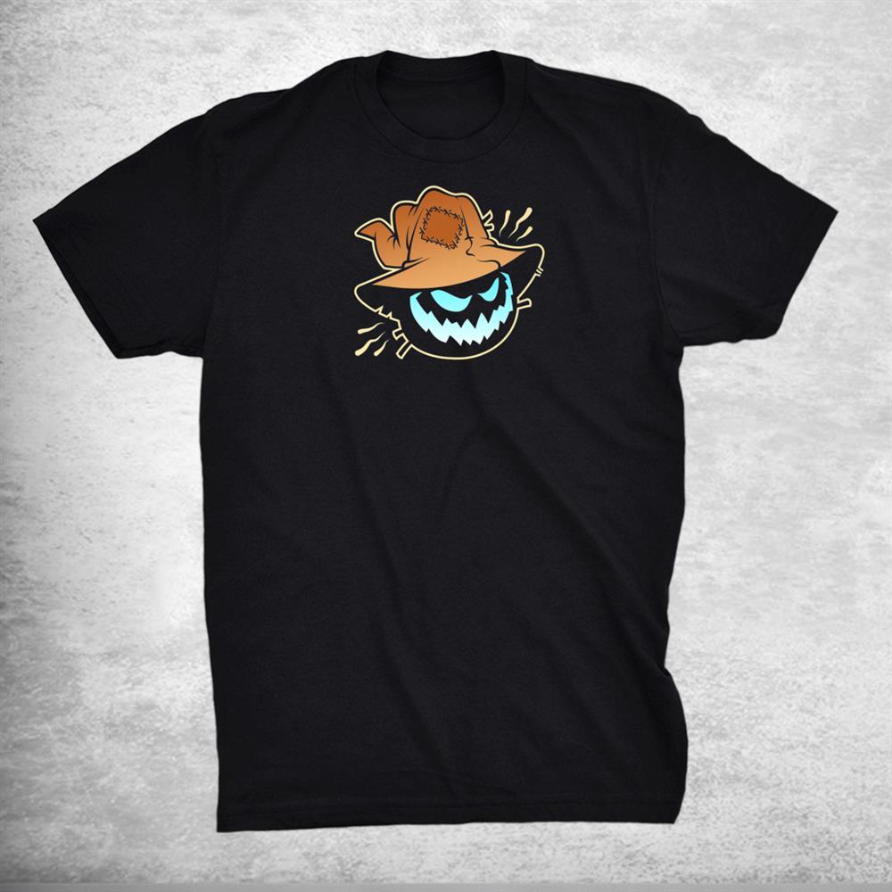 Creepy Scarecrow Spooky Grin Halloween Shirt