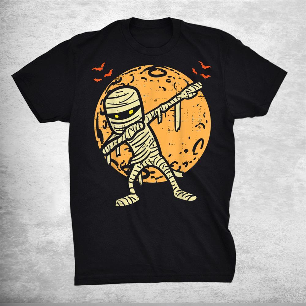 Dabbing Mummy Dab Moon Bats Dance Halloween Shirt