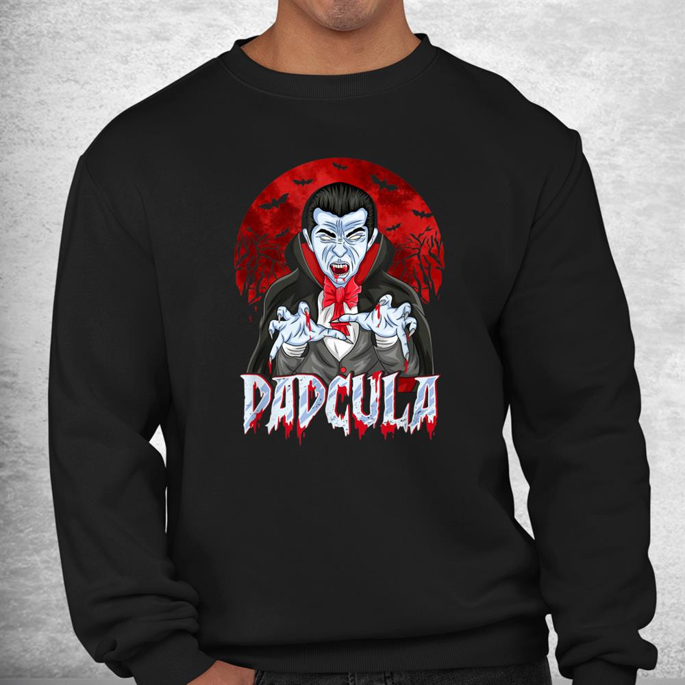 Dad Dracula Costume Dadcula Funny Halloween Shirt