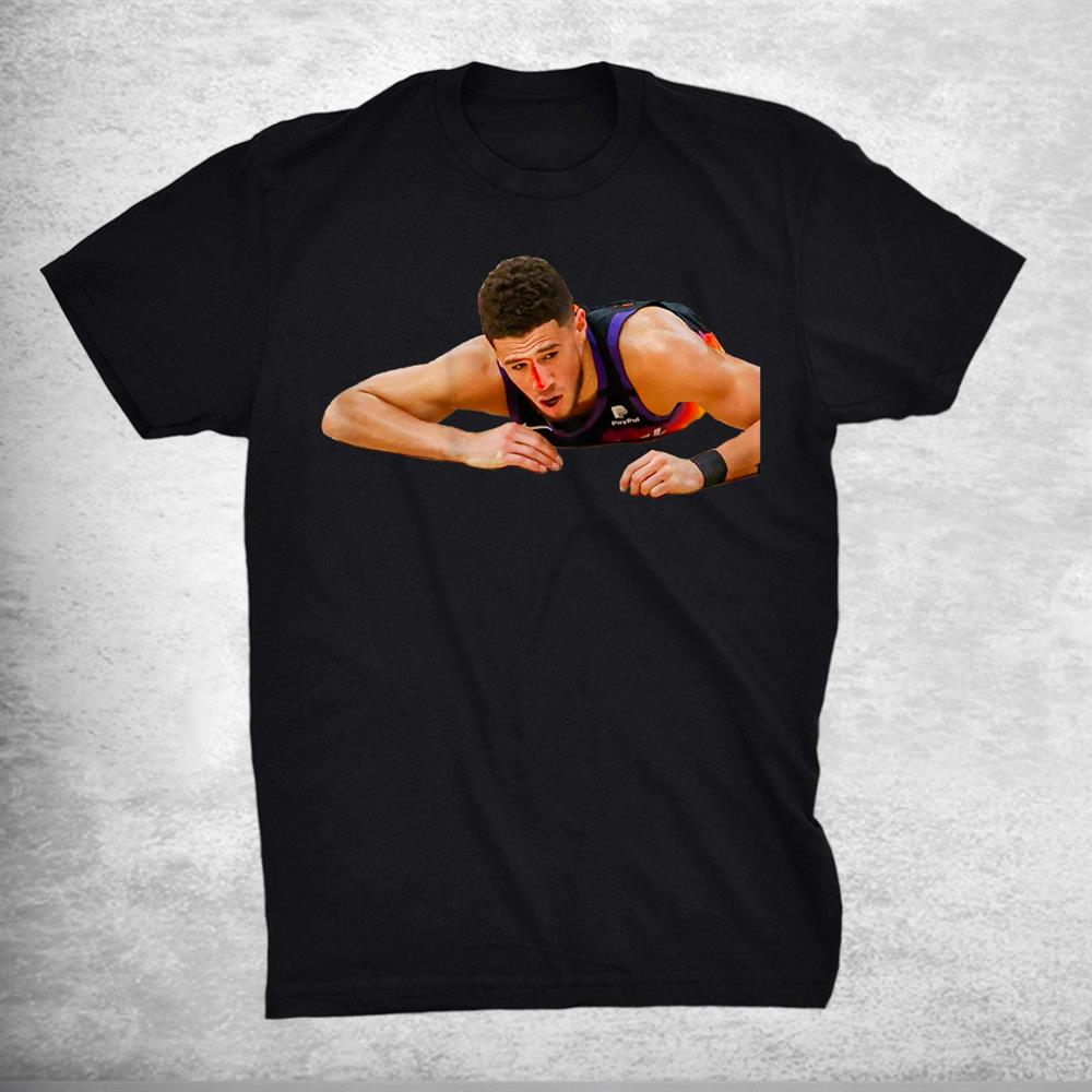 Devin Booker Funny Nosebleed Busts Open Nose Print On Back Shirt