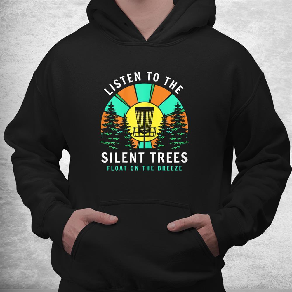 Disc Golf Shirts Men Disc Golf Tee Silent Trees Shirt