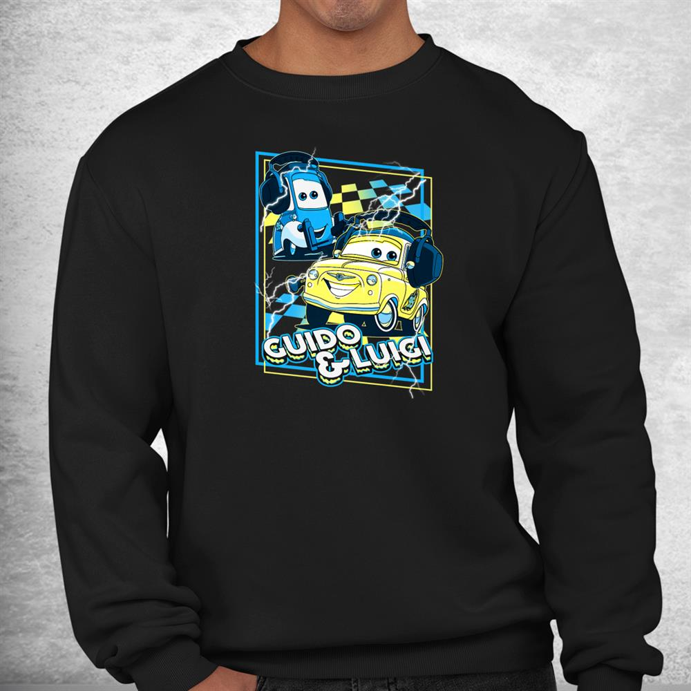Disney Pixar Cars Guido And Luigi Loud As Thunder Shirt