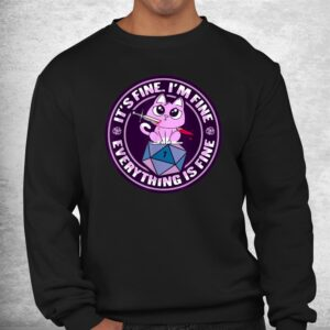 dnd cat design for a rpg gamer shirt 2