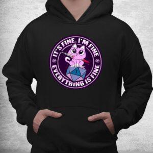dnd cat design for a rpg gamer shirt 3