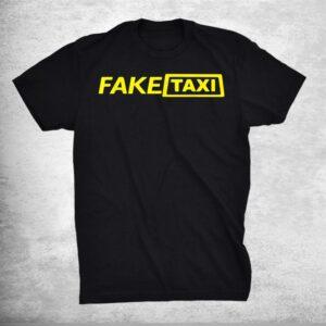 Fake Taxi Lazy Diy Halloween Costume Funny Easy Humor Shirt