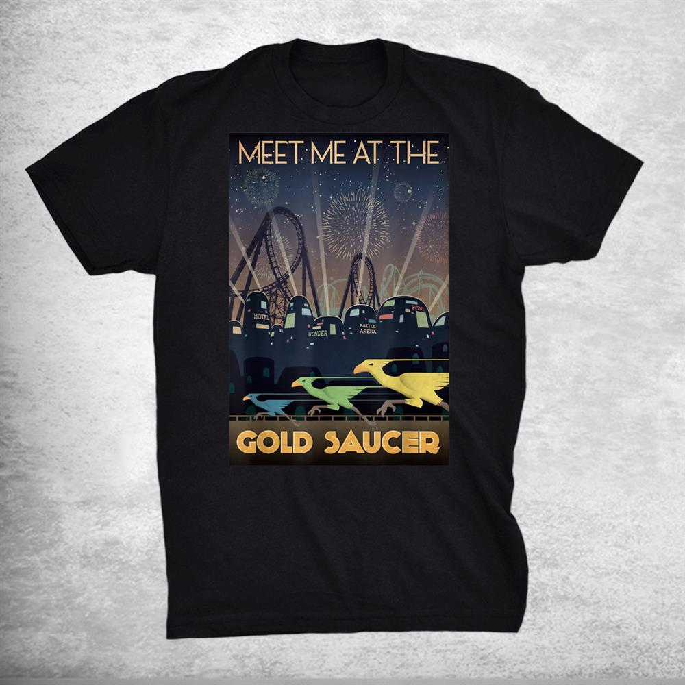 Final Fantasys Vii Goldd Saucerr Travel Shirt