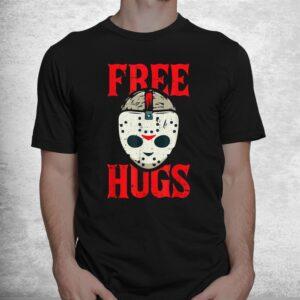 free hugs lazy halloween costume scary creepy horror movie shirt 1