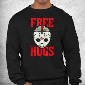 free hugs lazy halloween costume scary creepy horror movie shirt 2