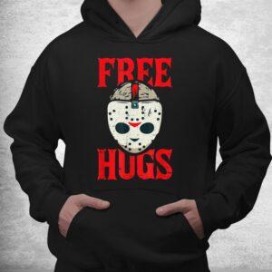 free hugs lazy halloween costume scary creepy horror movie shirt 3