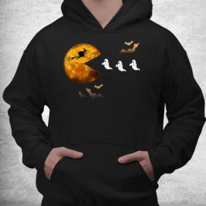 fun halloween full moon eating ghosts halloween shirt 3