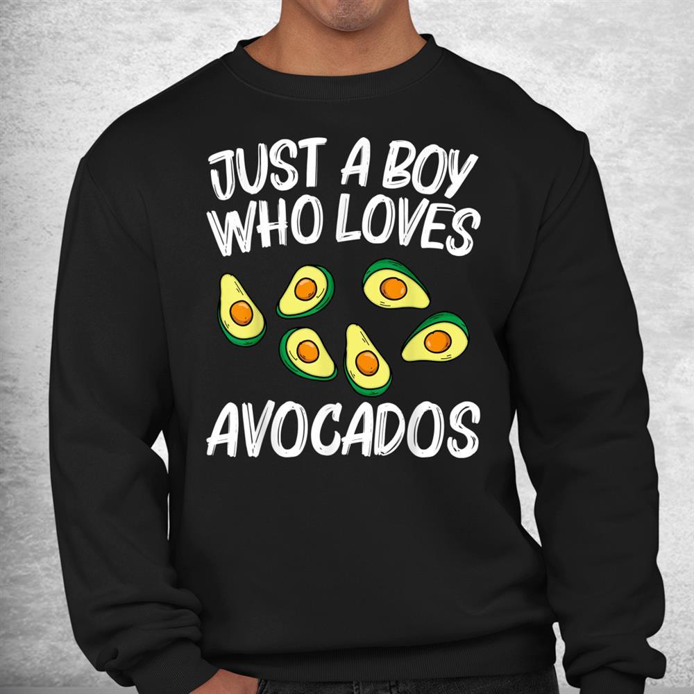 Funny Avocado For Boys Kids Pear Guac Avocados Mexican Fruit Shirt