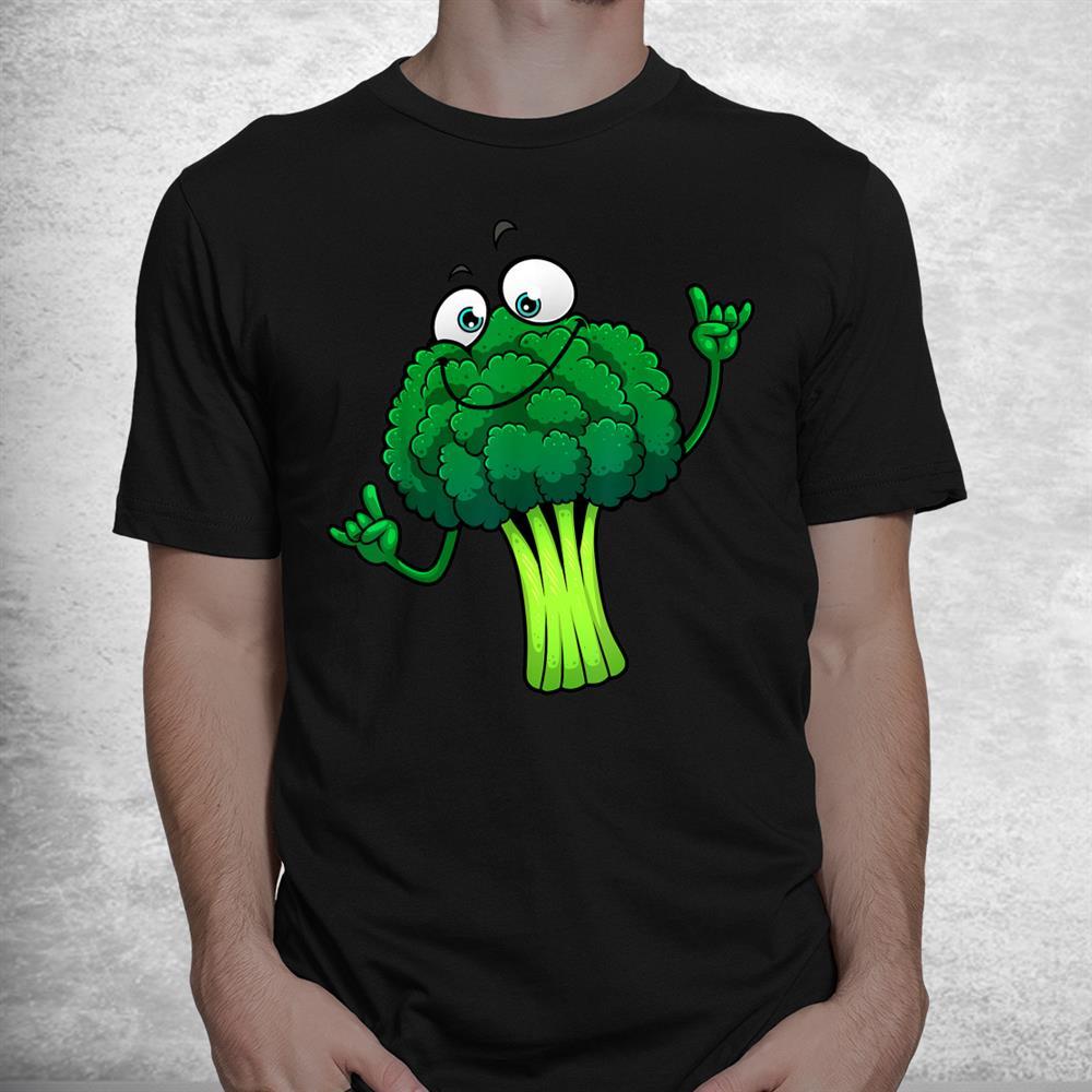 Funny Broccoli Lover Vegetarian Foodie Shirt
