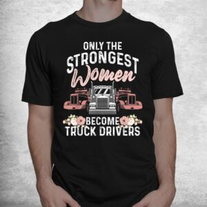 funny female truck driver trucking shirt 1