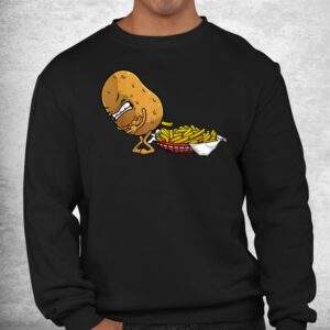 funny french fries potato food eaters shirt 2