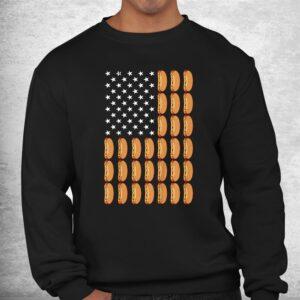 funny hot dog american flag foodie shirt 2