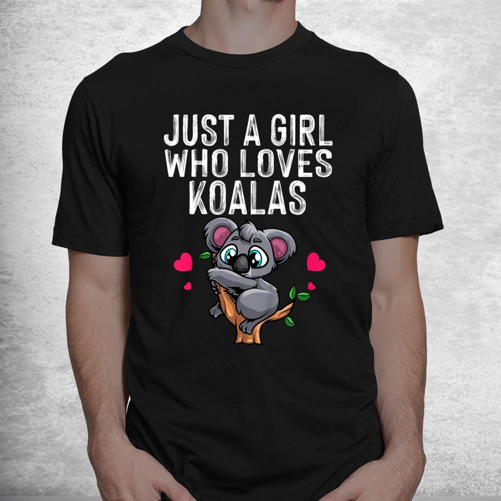 Funny Koala Bear Australian Animal Hearts Shirt