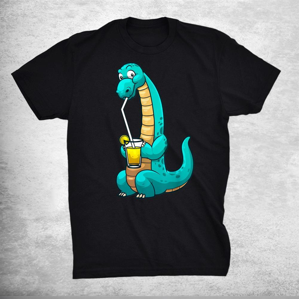 Funny Lemonade Lemon Juice Glass Brontosaurus Shirt