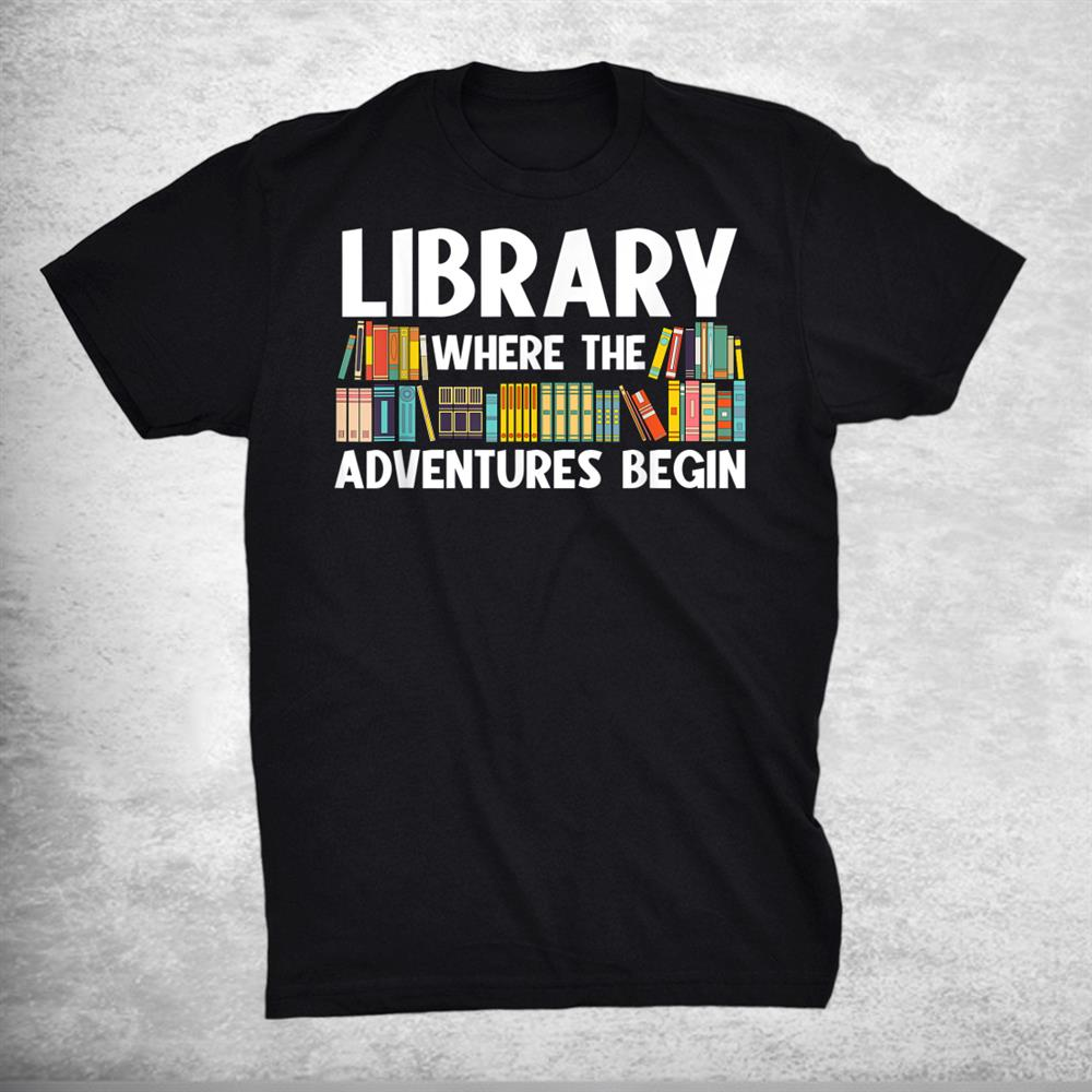 Funny Library Bookworm Reading Book Lovers Shirt