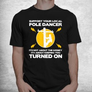 funny lineman humor lovers electronics shirt 1