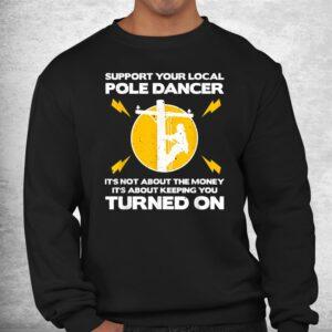 funny lineman humor lovers electronics shirt 2