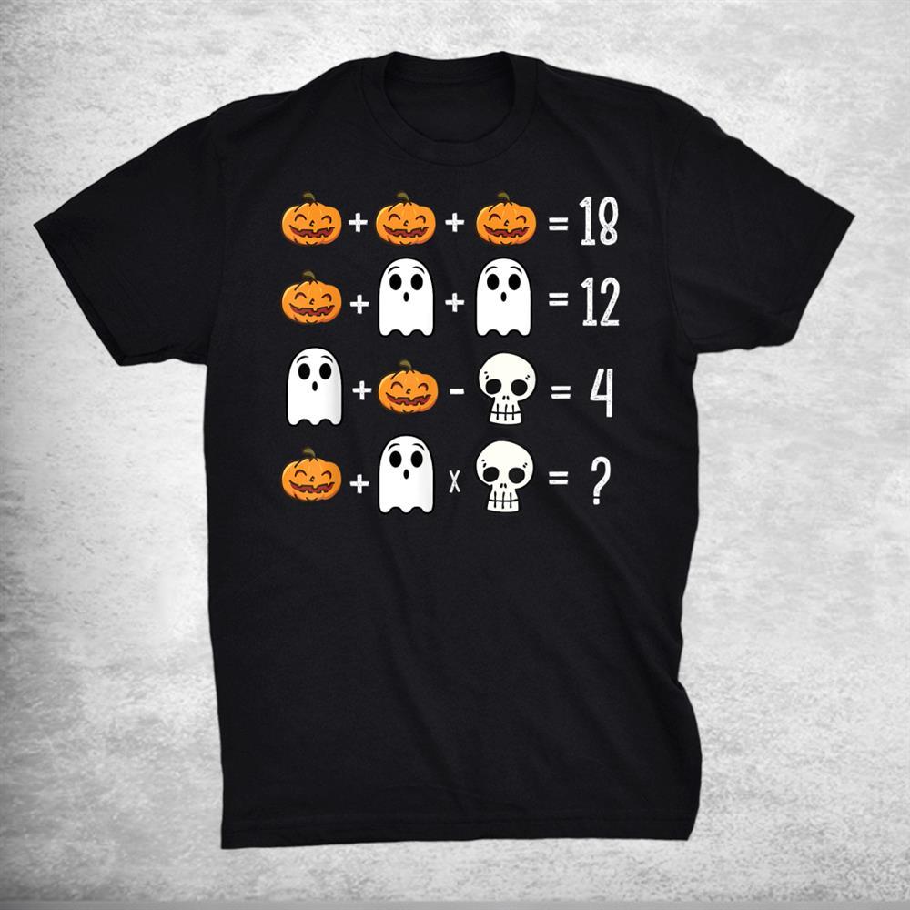Funny Math Order Of Operations Quiz Spooky Pumpkin Shirt