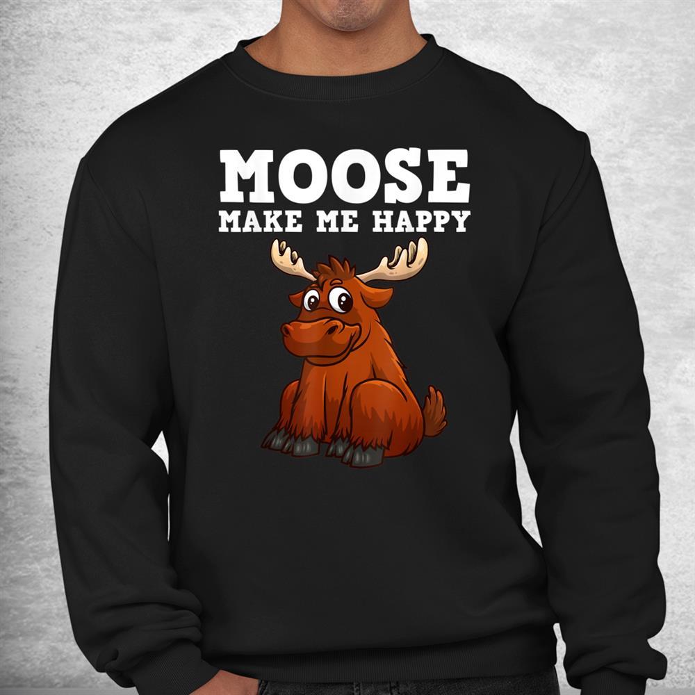 Funny Moose For Kids Boys Girls Antler Fallow Deer Animal Shirt