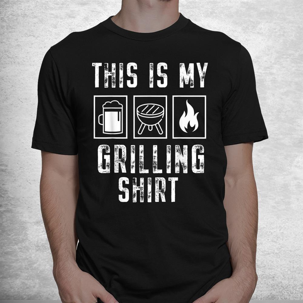 Funny My Grilling Shirt Vintage Bbq Or Smoking Meat Shirt