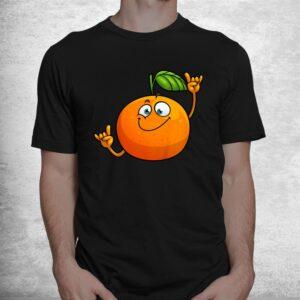funny orange fruit novelty dancing food shirt 1