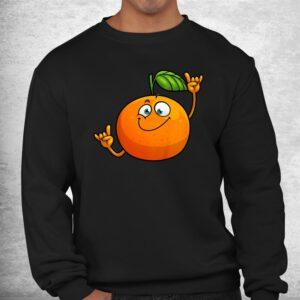 funny orange fruit novelty dancing food shirt 2