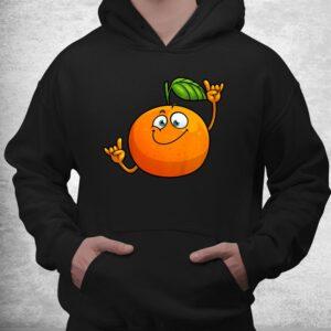 funny orange fruit novelty dancing food shirt 3
