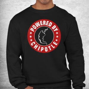 funny powered by chipotle design chili pepper shirt 2