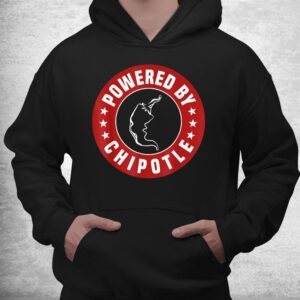 funny powered by chipotle design chili pepper shirt 3