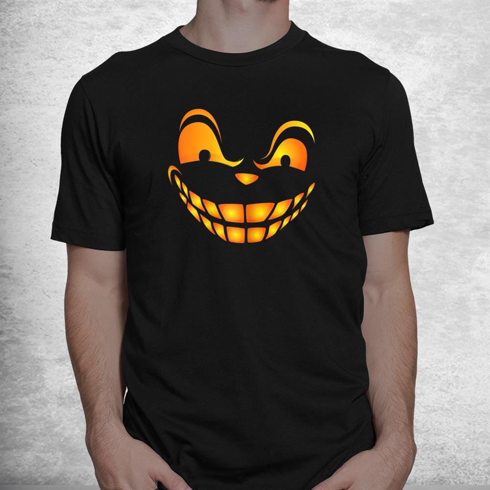 Funny Pumpkin Face Silly Halloween Costume Shirt