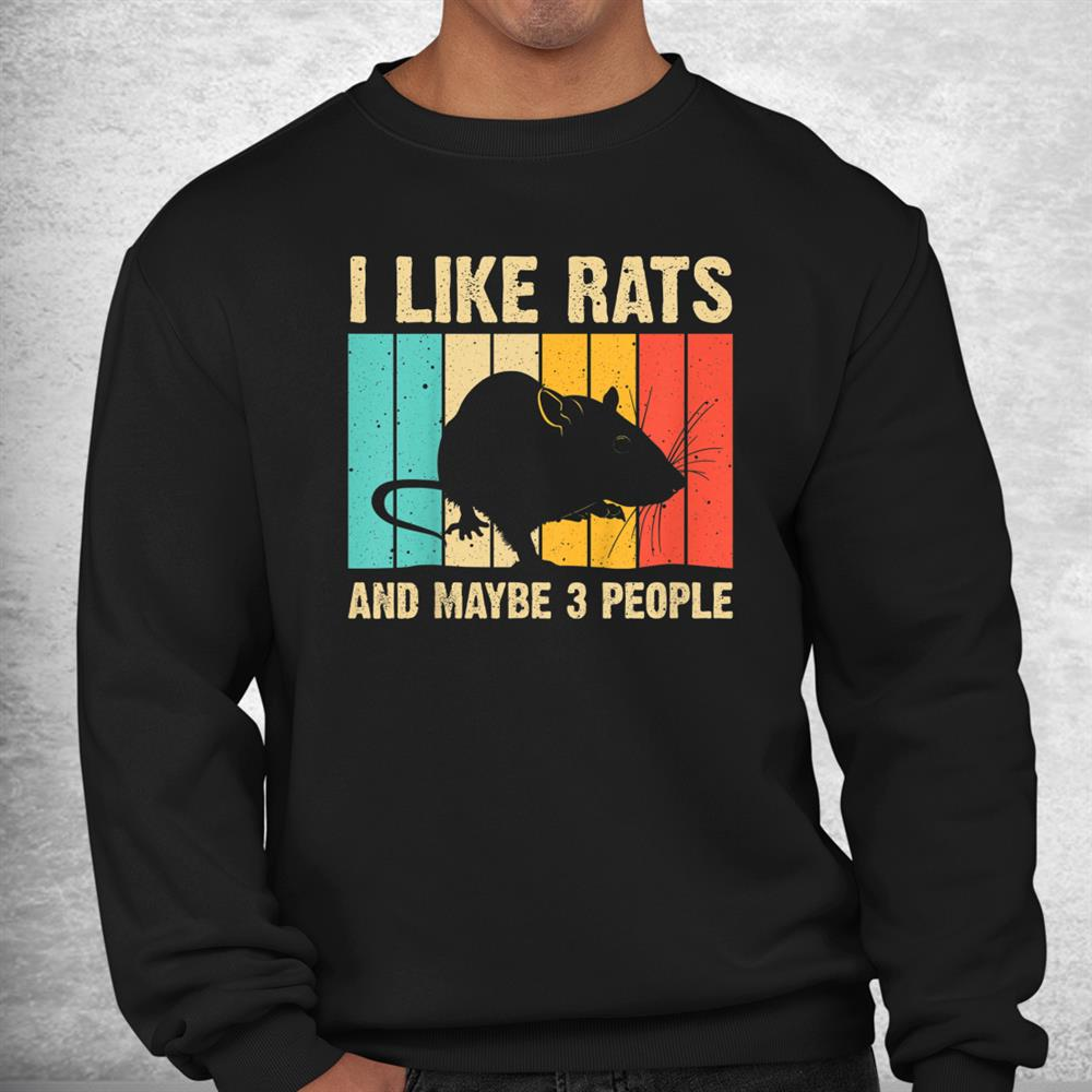 Funny Rat Design Rat Lover Mouse Rodent Introvert Shirt