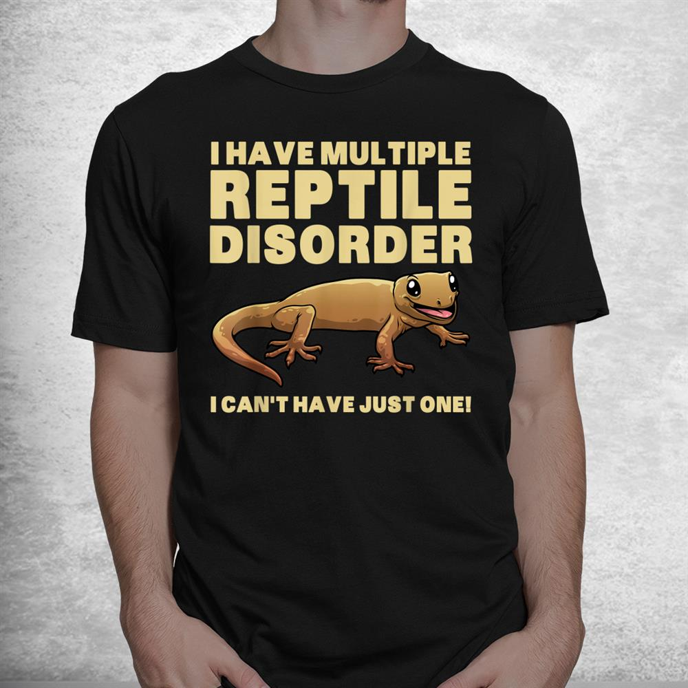 Funny Reptile Bearded Dragon Crested Gecko Pet Shirt