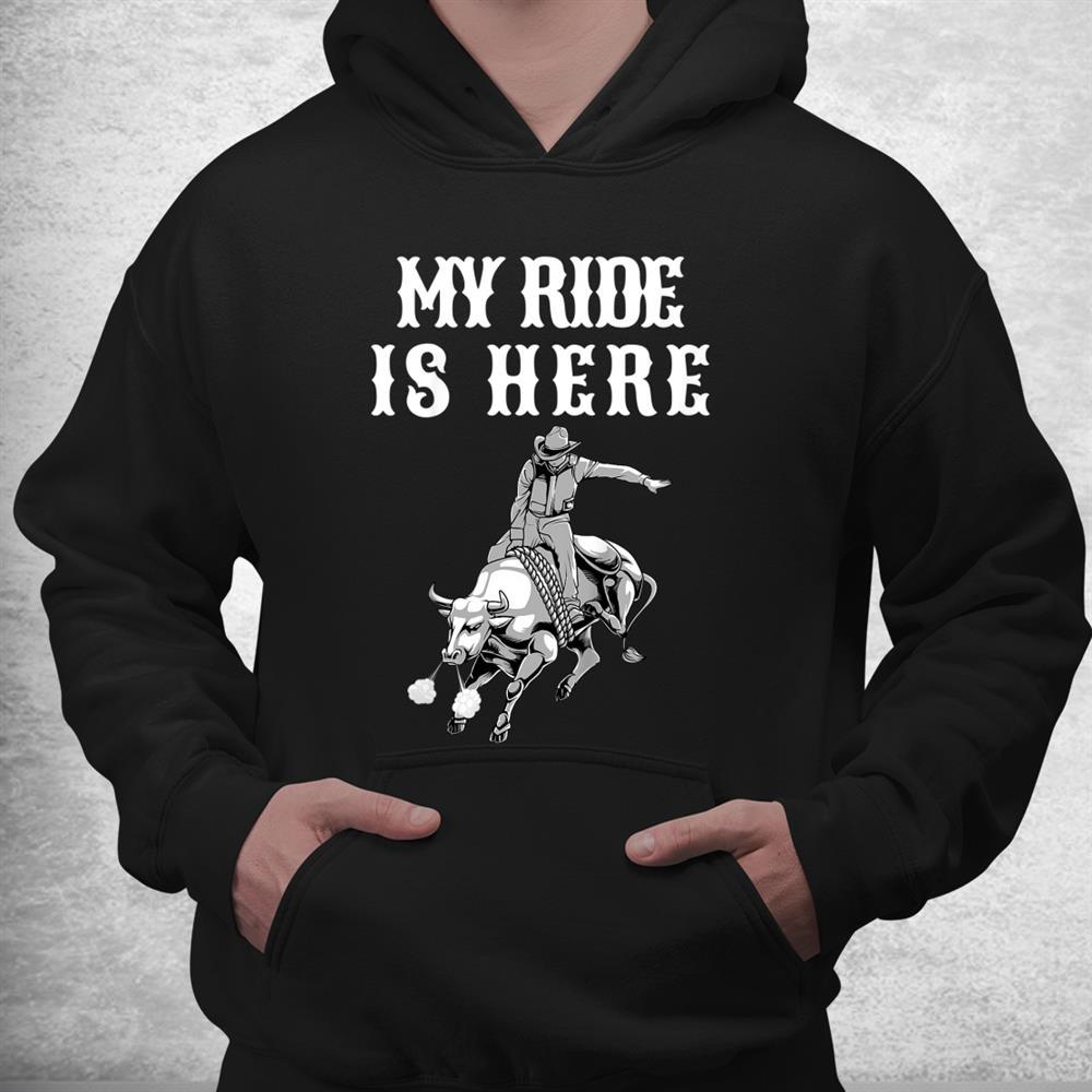 Funny Rodeo Bull Riding Cowboy Shirt