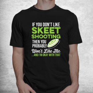 funny skeet shooting meme shotgun clay trap pigeon sporting shirt 1
