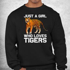 funny tiger girl tiger love wildlife shirt 2