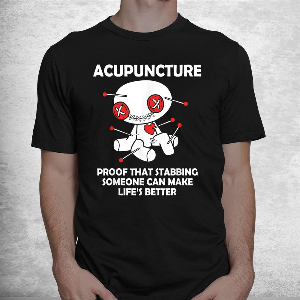 Funny Voodoo Doll Goth Emo Acupuncture Shirt