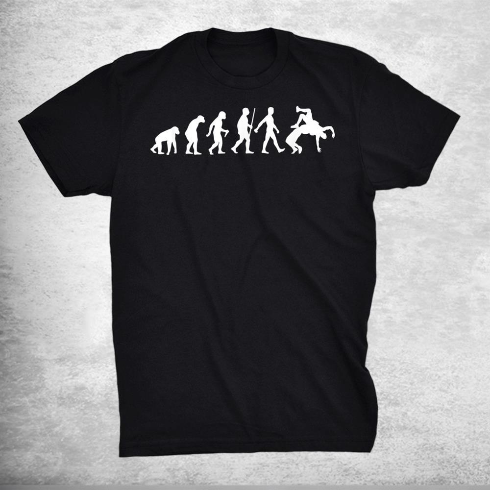 Funny Wrestling Judo Wrestler Human Evolution Shirt