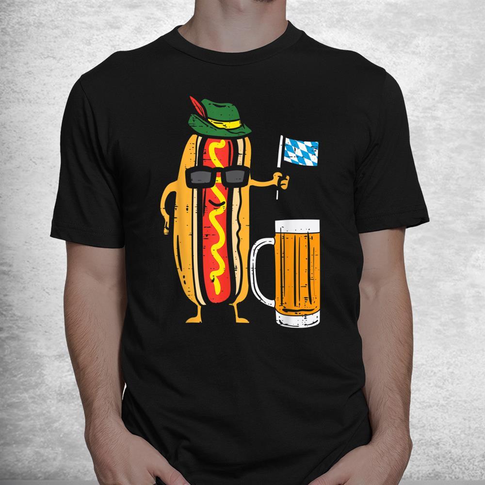 German Hotdog Bavaria Flag Funny Oktoberfest Wurst Shirt
