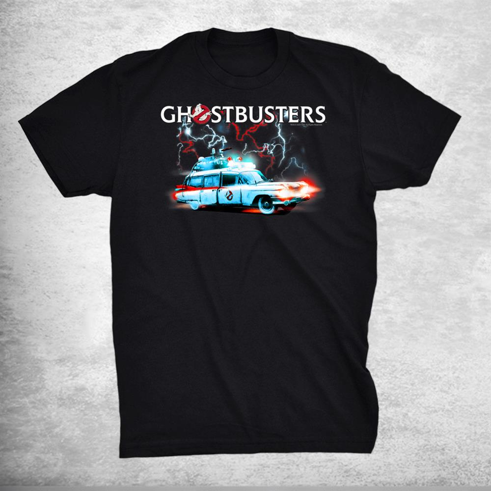 Ghostbusters Afterlife Ecto 1 With Protons And Logo Shirt