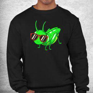 grasshopper wearing eyeglasses funny insect shirt 2