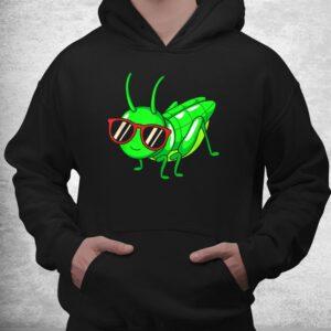 grasshopper wearing eyeglasses funny insect shirt 3