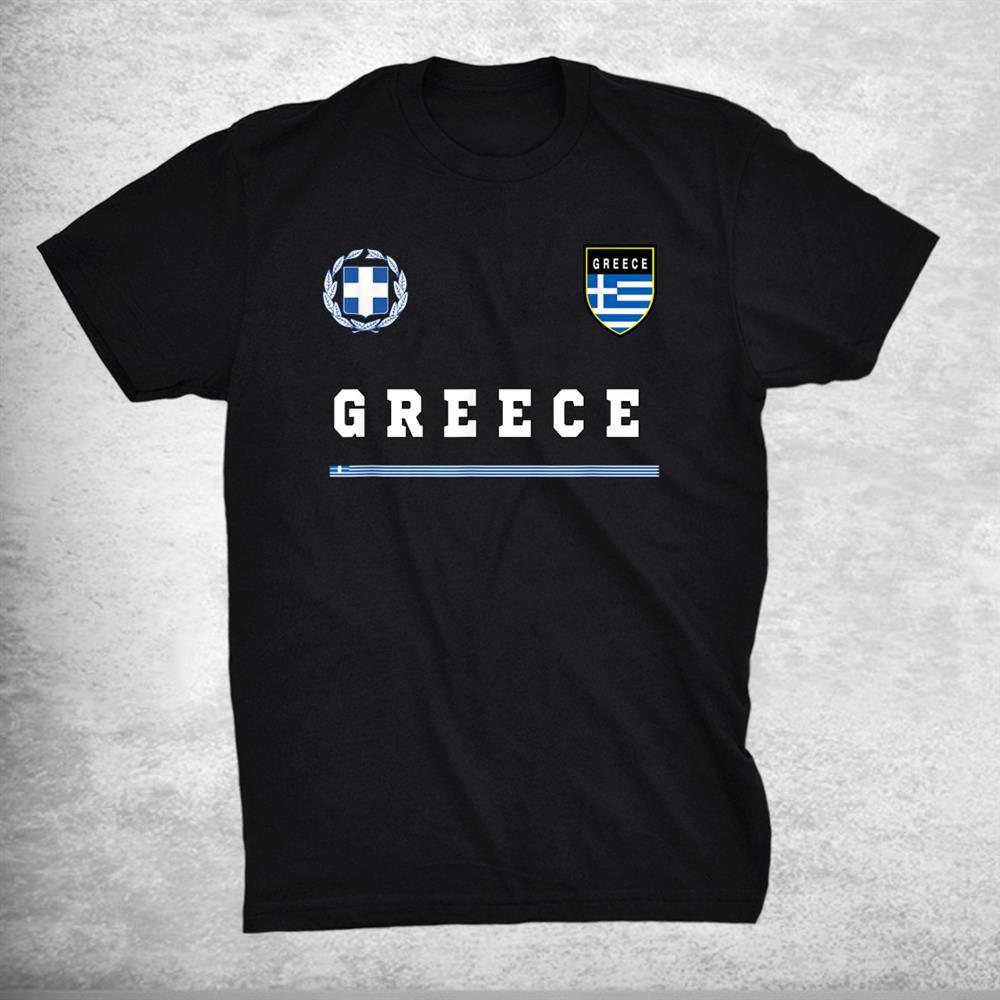 Greece Sports Soccer Jersey Tee Flag Football Greek Shirt