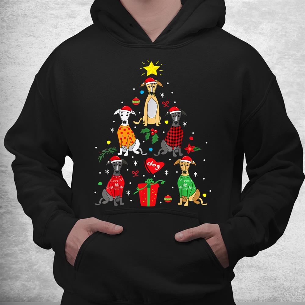 Greyhound Christmas Tree Dog Funny Shirt